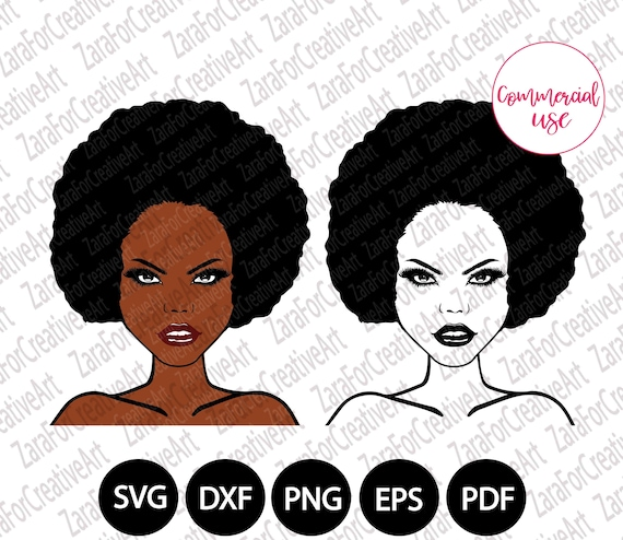 Sexy Strong African American Woman Svg Black Woman Svg Afro Etsy