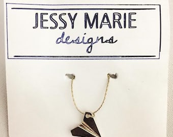 Let it Go - Paper Airplane Necklace