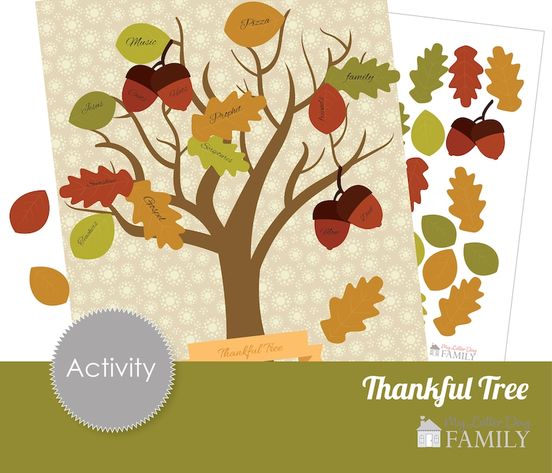 graphic about Thankful Tree Printable named Printable Grateful Tree, Blessings and Thanksgiving Graude Tree