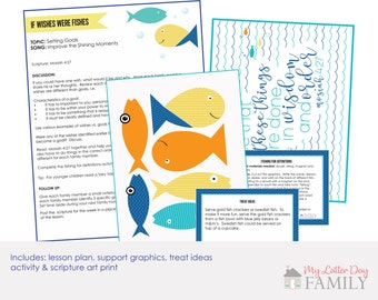 If Wishes Were Fishes, Family Home Evening Lesson,  FHE lesson, LDS Printable, Printable Lesson, Setting Goals