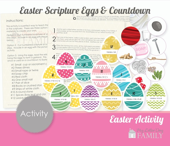Printable Scripture Eggs Activity Easter Egg Hunt  DIY