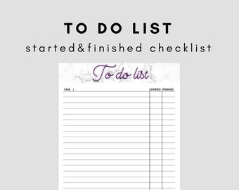 To Do List Printable/Printable Checklist/Printable Planner/To Do List Template/Task Management/Productivity Planner/Task organizer/PDF/A4,A5
