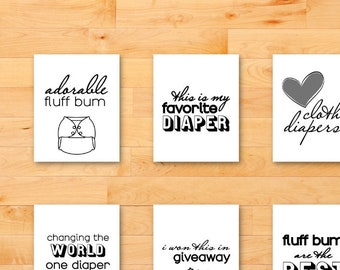 Baby Milestone Cards for Cloth Diapers (Digital Download)