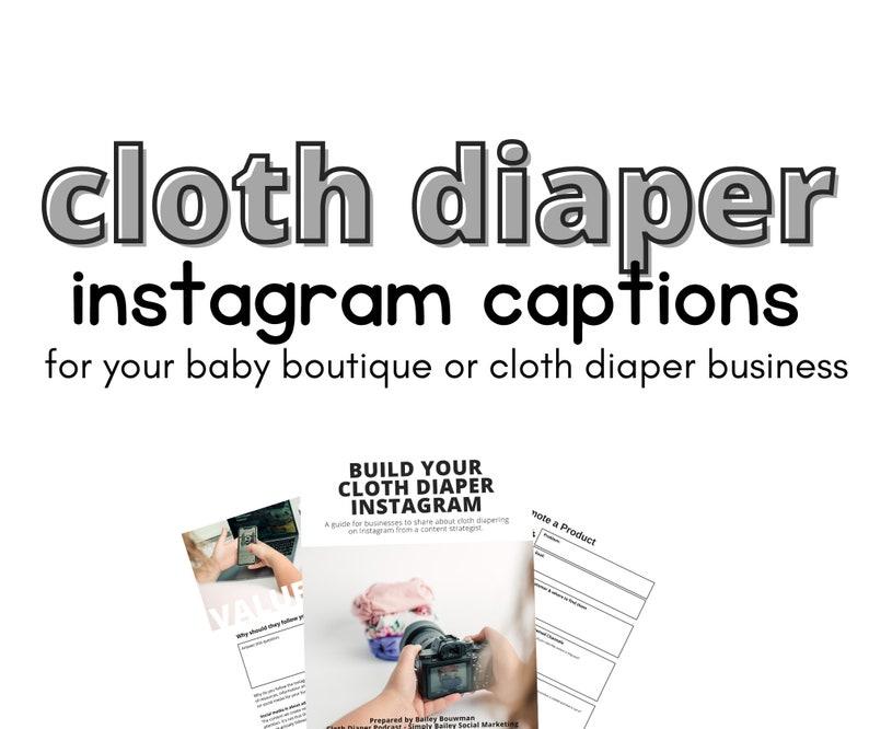 50 Cloth Diaper Instagram Captions   Templates  Product image 0