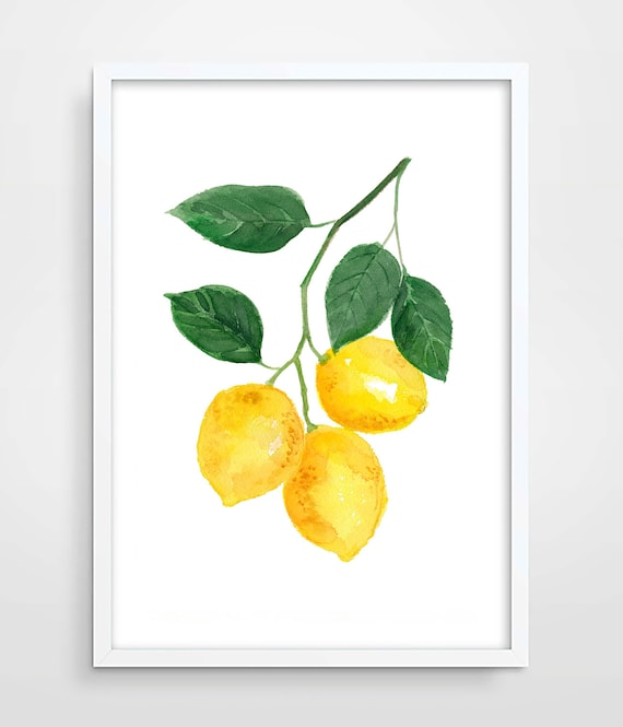 Lemon Watercolor Print