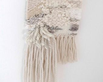 Neutral | Tapestry Weaving | Woven Wall Hanging | Fiber Art