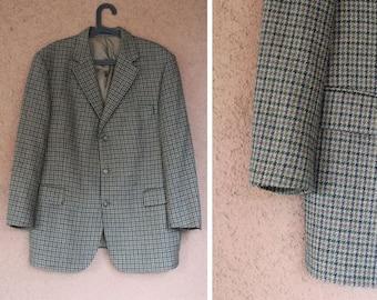 BURBERRY Wool Checked Blazer