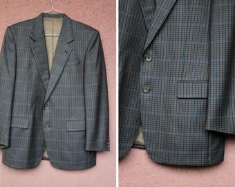 84a64bac23f2 Vintage BURBERRY Wool Blend Blazer - Burberry Tweed Jacket