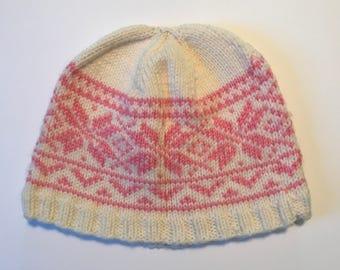 Pink Snowflake Hat