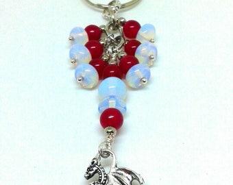Gemstone dragon keychain