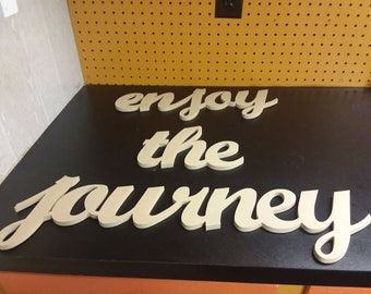 Enjoy the Journey 3 piece wall sign