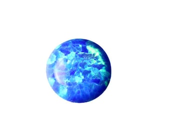 Synthetic Opal Cabochons Ocean Blue