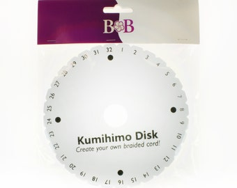 Kumihimo Disks (1 Disk) create your own Kumihimo necklaces/bracelets and other jewellery