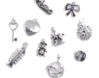 Silver Plated Charm Pack Mix (10 pieces)