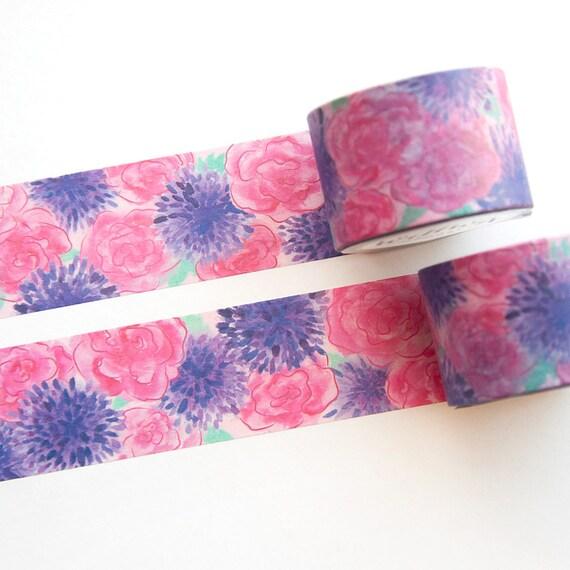 Floral Flowers Leaf Washi Tape Designs 15mm x10 Metre Rolls 30 Designs To Choose