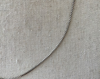 """Vintage Genuine Sterling Silver 925 Stamped Fine Cable 18/"""" Chain Necklace J46"""
