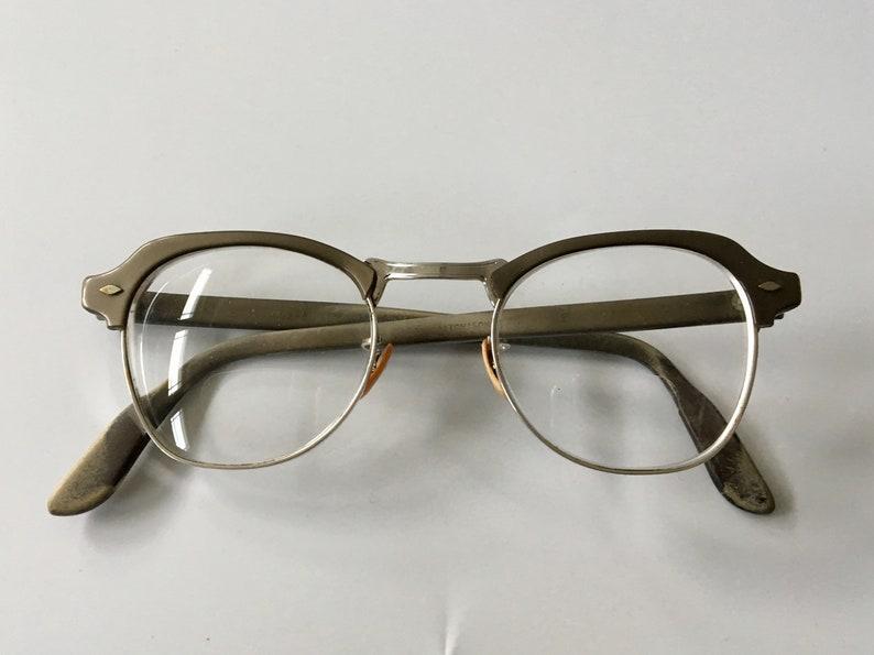 1ee79f71b28 Vintage 1950s Bausch   Lomb Browline Eyeglasses Spectacles