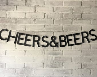 Cheers & Beers Party Banner Birthday, Shower, Bachelor, Bachelorette, Holiday Party Decor
