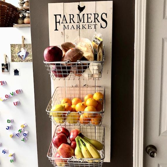 Bauernmarkt rustikale produzieren Wand hängen Obst & | Etsy