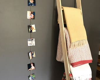 6' Twine and Mini Clothes Pin Photo Wall Display. Multi-Color.