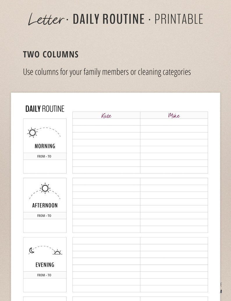 photograph about Morning Routine Flylady Printable known as Day-to-day Timetable / Flylady Early morning Timetable Record / Routine Tracker / Dwelling Control Planner Include / House printables / Letter Measurement