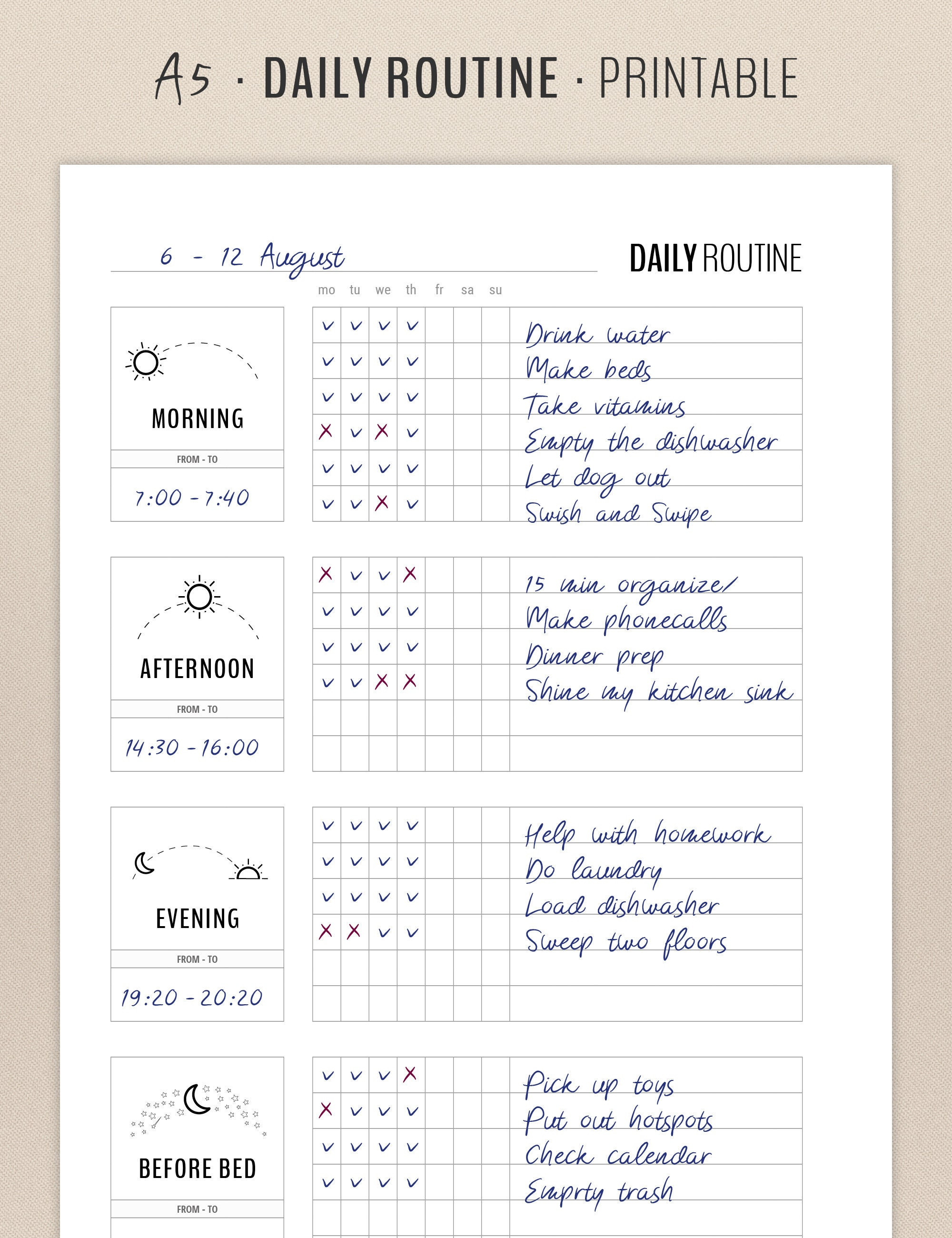 graphic about Flylady Printable referred to as Day-to-day Schedule Planner Printable, Flylady Early morning Schedule Listing, Just before Mattress Program, Property Control Planner Include, Home printables
