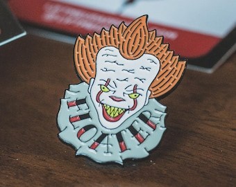 Pennywise Pin - Enamel Pin - Stephen King - Pennywise - IT - Horror Movie - Horror - Pennywise the Clown - Halloween - Clown - Pin - Badge