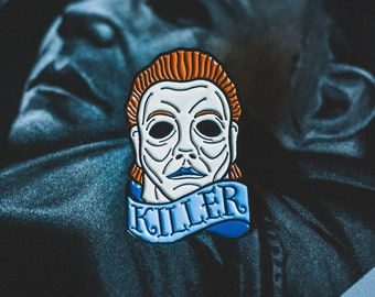 Halloween Pin - Michael Myers - Enamel Pin - Halloween Mask - Killer - Horror - Lapel Pin - Pin Badge - Horror Movie - John Carpenter - Art
