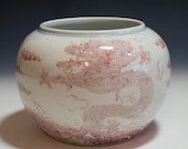 Beautiful and Highly Collectible Chinese Antique Qing Dynasty KangXi Emperor Mark Coppered Red quot Dragon quot Porcelain Jar - 18th Century