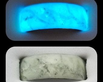 The Jedi Bone * Glow-in-the-Dark Handmade Ring on Comfort Fit Tungsten * FREE UV Light * Unofficial Star Wars Ring