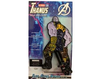 """Thanus Enamel Pin with Slide Action Antman 2.5"""" Thanos"""