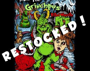 Krampus Mashup Horror Enamel Pin Grinchpus
