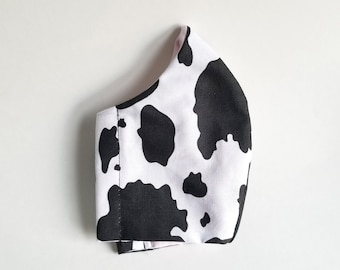 Cow Pattern Face Mask (Handmade)