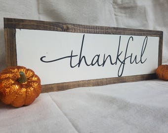THANKFUL / Wood Sign / Fall / Wall Decor / Thanksgiving
