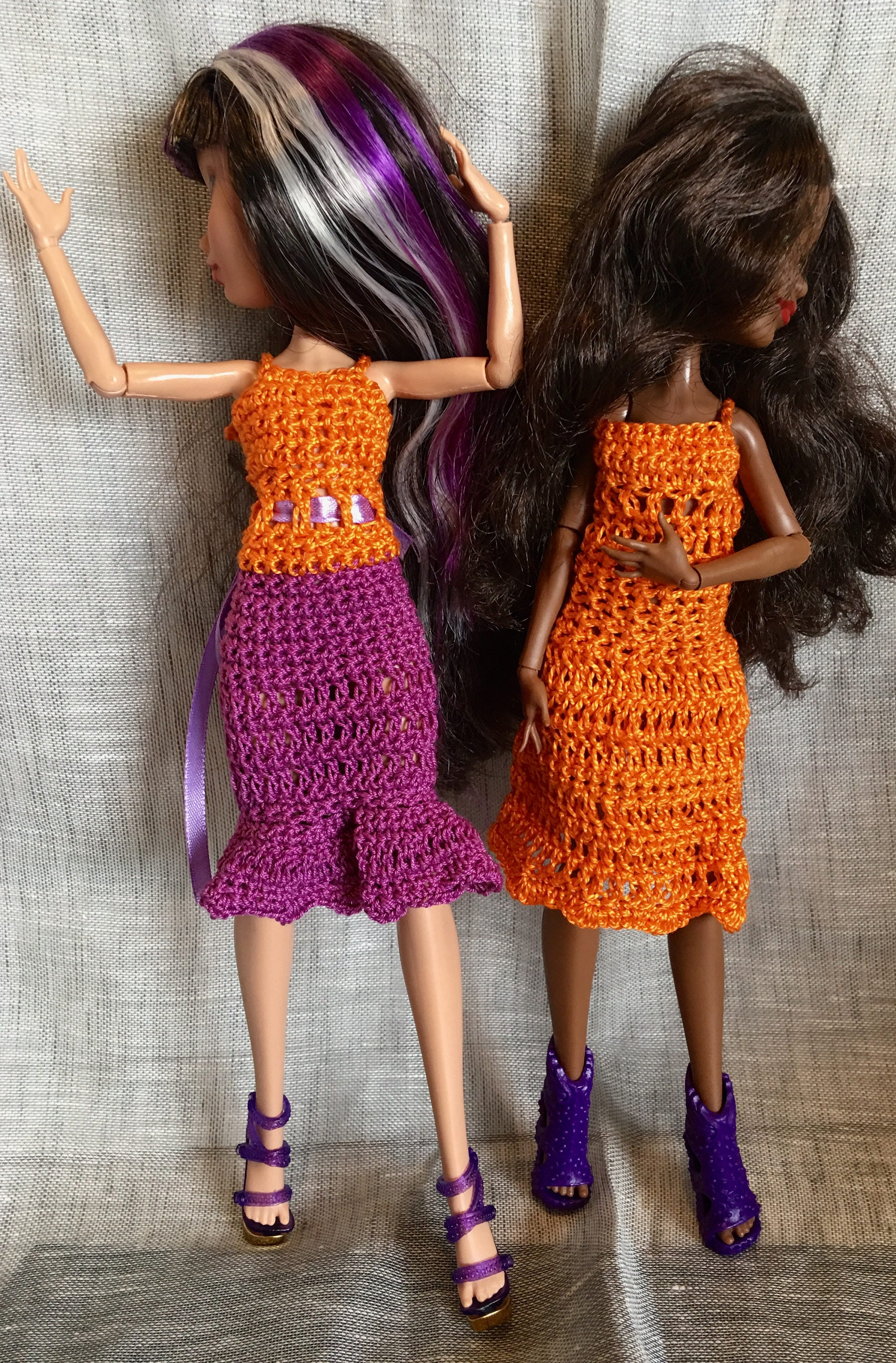 052211b2d5949 Monster Ever after High - Pullip - 2 dresses crochet
