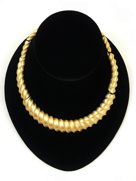 Vintage Monet Choker Gold Choker Necklace Monet Je