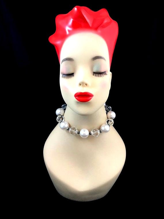 Vintage Miriam Haskell Pearl Choker Necklace