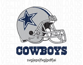 Dallas Cowboys Helmet and Logo 2 Pack Inspired Vector Art, svg dxf fxg eps pdf ai format download
