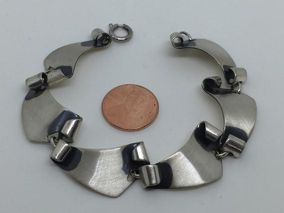 Mid Century Modern Felchcraft Sterling Bracelet - image 2