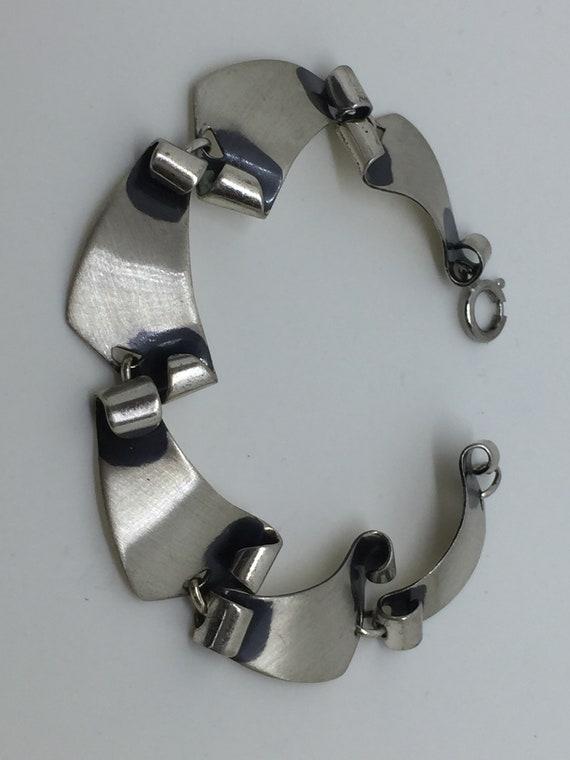 Mid Century Modern Felchcraft Sterling Bracelet - image 6