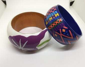 Chunky Vintage Bangles for a burst of color