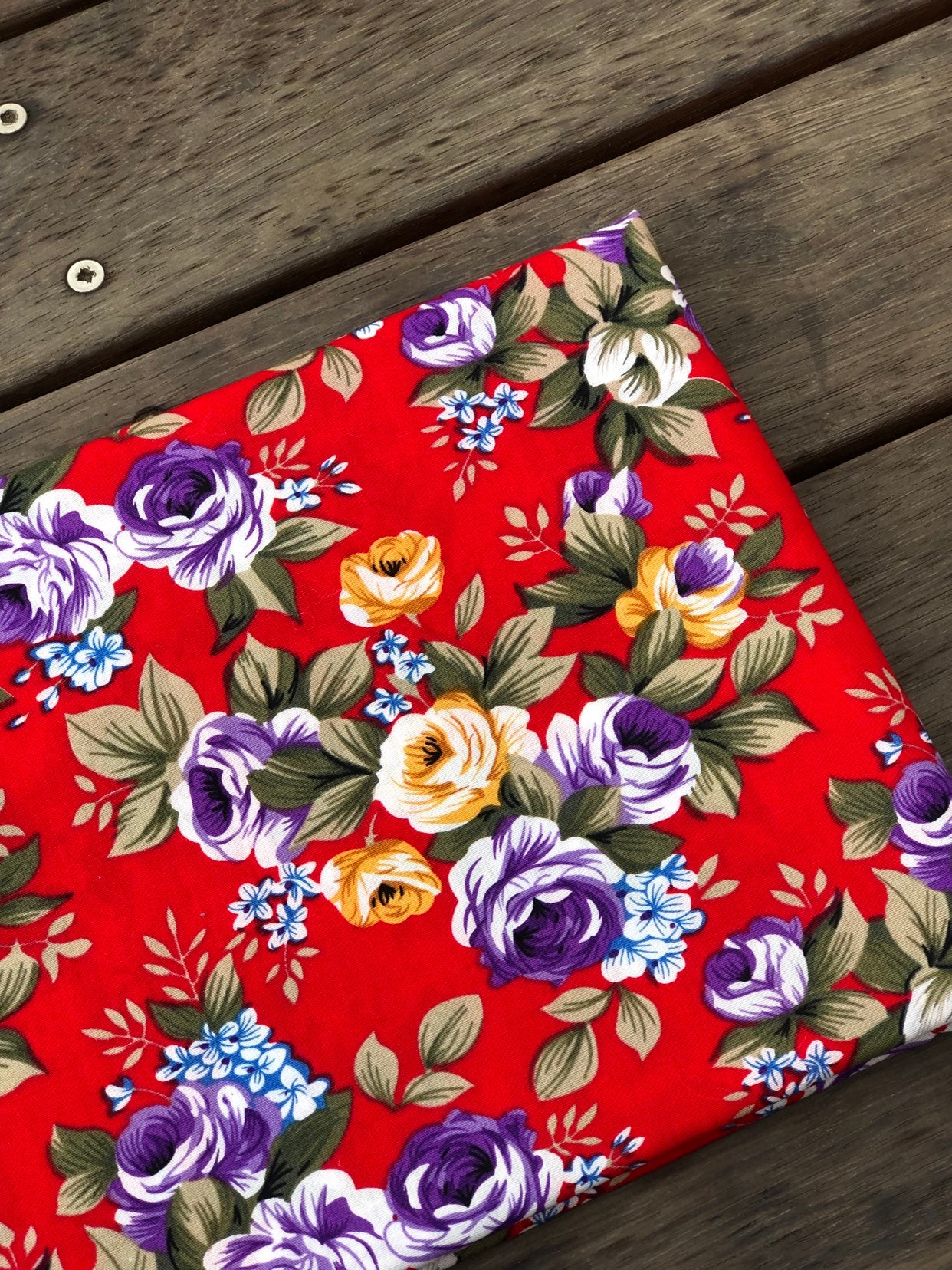 **SALE** GOOD QUALITY 100/% COTTON TWILL RED BY THE METRE 150cm WIDE GOOD WEIGHT