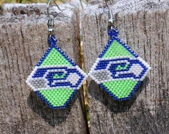 Seattle Seahawks Earrings. 12. Football NFL. GO HAWKS!