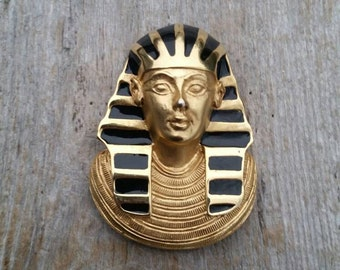 Erwin Pearl Egyptian Revival Pharaoh Brooch or Pendant