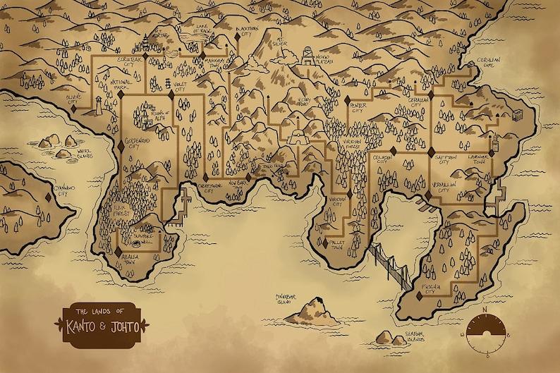 Map of the Kanto and Johto Regions Kanto Map on tokyo map, chubu map, kanagawa map, unova map, heartgold map, jhoto map, tohoku map, sinnoh map, london map, kyushu map, pokemon yellow map, hokkaido map, all pokemon regions world map, kyoto map, hoenn map, nara map, sevii islands map, nagasaki prefecture map, pokemon x and y map, development map,