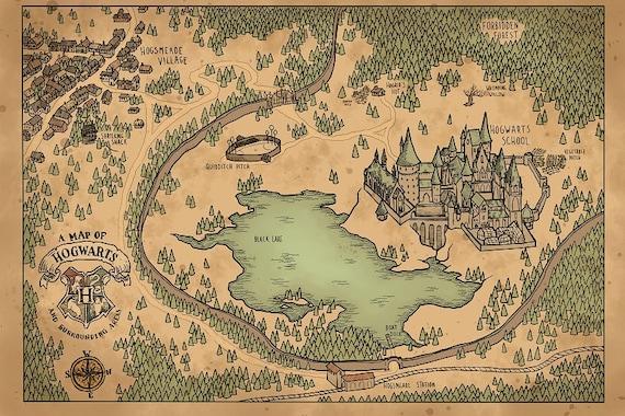 hogwarts karte Eine Karte von Hogwarts und Umgebung | Etsy hogwarts karte