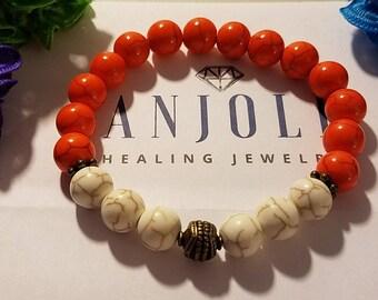 University of Tennessee Volunteers Game, Beaded Bracelet, Gemstone Jewelry, Vols Jewelry, UT Jewelry, Gift Under 50, Gift for Her
