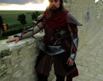 Engraved leather armor made Moergen custom-made