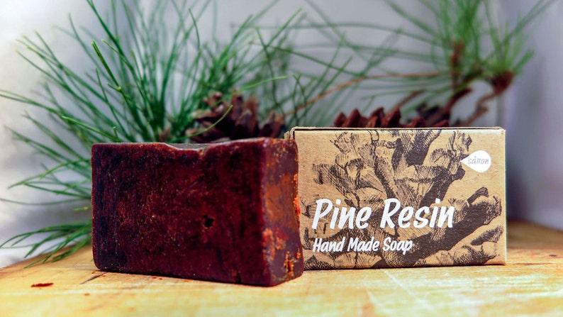 Pine Resin Soapall natural soapsoap barpine soapUnscented image 0