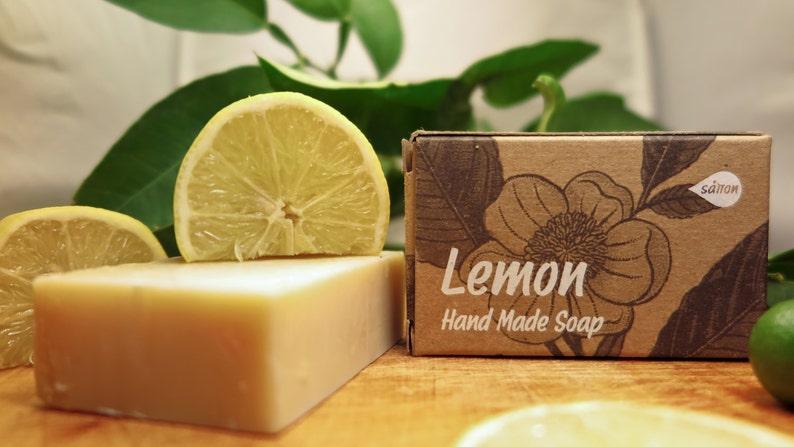Lemon Soapcitrus soapnatural soapbar soapvegan image 0